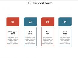 KPI Support Team Ppt Powerpoint Presentation Icon Brochure Cpb