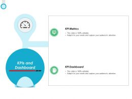 KPIS And Dashboard Metrics Ppt Powerpoint Presentation Icon Sample