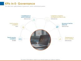 Kpis In E Governance Service Delivered Ppt Powerpoint Presentation Background Images