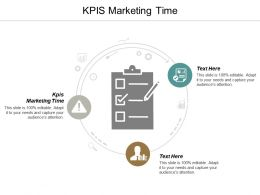 KPIS Marketing Time Ppt Powerpoint Presentation File Layouts Cpb