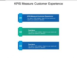 KPIS Measure Customer Experience Ppt Powerpoint Presentation Background Cpb