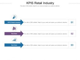 KPIS Retail Industry Ppt Powerpoint Presentation Infographics Pictures Cpb