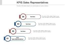 KPIS Sales Representatives Ppt Powerpoint Presentation Visual Aids Inspiration Cpb