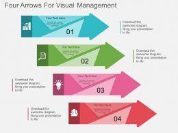 kq_four_arrows_for_visual_management_flat_powerpoint_design_Slide01