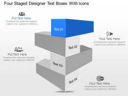 kr Four Staged Designer Text Boxes With Icons Powerpoint Template