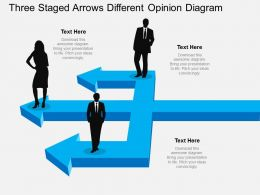 kr Three Staged Arrows Different Opinion Diagram Flat Powerpoint Design