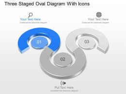 Kr Three Staged Oval Diagram With Icons Powerpoint Template