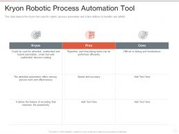 Kryon Robotic Process Automation Tool Ppt Powerpoint Presentation Model File Formats