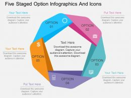 Ks Five Staged Option Infographics And Icons Flat Powerpoint Design