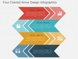 ks Four Colored Arrow Design Infographics Flat Powerpoint Design