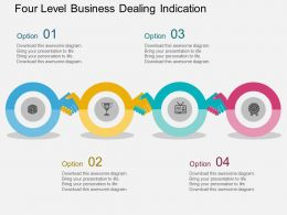 ks Four Level Business Dealing Indication Flat Powerpoint Design