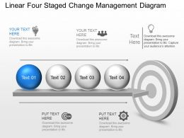 kt Linear Four Staged Change Management Diagram Powerpoint Template
