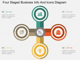 ku Four Staged Business Info And Icons Diagram Flat Powerpoint Design