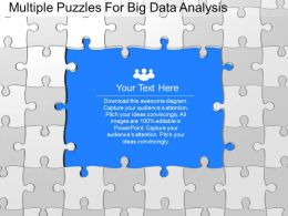 ku Multiple Puzzles For Big Data Analysis Powerpoint Template