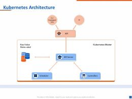 Kubernetes Architecture Key Value Ppt Powerpoint Presentation Example 2015