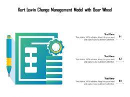 Kurt Lewin Change Management Model With Gear Wheel