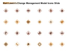 Kurt Lewins Change Management Model Icons Slide Planning Ppt Powerpoint Slides