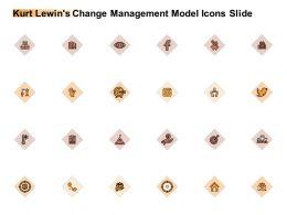 Kurt Lewins Change Management Model Icons Slide Planning Ppt Powerpoint Slides