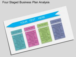 kv Four Staged Business Plan Analysis Flat Powerpoint Design