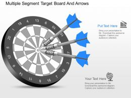 kv Multiple Segment Target Board And Arrows Powerpoint Template