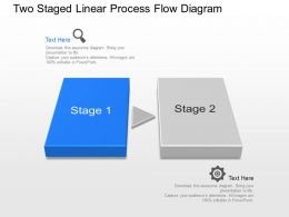Kw Two Staged Linear Process Flow Diagram Powerpoint Template
