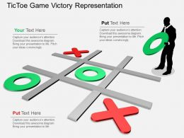kx Tic Toe Game Victory Representation Flat Powerpoint Design