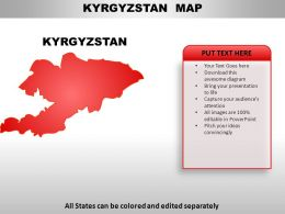 Kyrgyzstan Country PowerPoint Maps