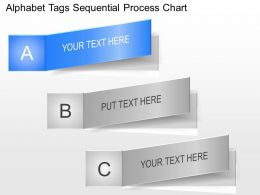 la Alphabet Tags Sequential Process Chart Powerpoint Template