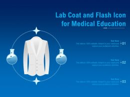 Lab Coat And Flash Icon For Medical Education
