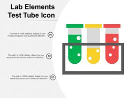 Lab Elements Test Tube Icon