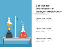 Lab Icon For Pharmaceutical Manufacturing Process