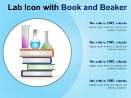 Lab Icon With Book And Beaker