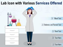 Lab Icon With Various Services Offered