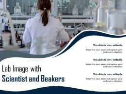 Lab Image With Scientist And Beakers