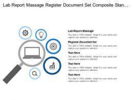 Lab Report Massage Register Document Set Composite Standard