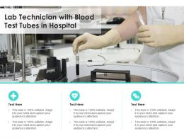 Lab Technician With Blood Test Tubes In Hospital