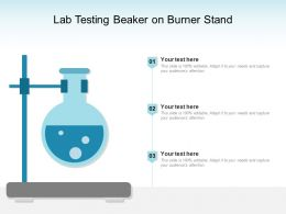 Lab Testing Beaker On Burner Stand