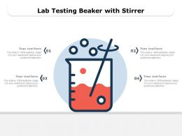 Lab Testing Beaker With Stirrer