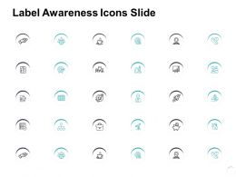 Label Awareness Icons Slide Growth L863 Ppt Powerpoint Show