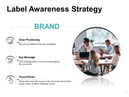 Label Awareness Strategy Ppt Powerpoint Presentation Model Diagrams