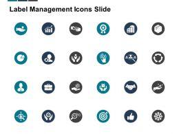 Label Management Icons Slide Arrow Growth C340 Ppt Powerpoint Presentation Infographics