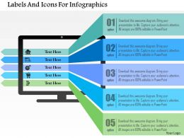 Labels And Icons For Infographics Flat Powerpoint Design