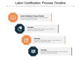 Labor Certification Process Timeline Ppt Powerpoint Presentation Deck Cpb