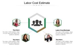 Labor Cost Estimate Ppt Powerpoint Presentation Ideas Grid Cpb