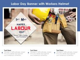 Labor Day Banner With Workers Helmet