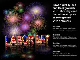 Labor Day Card Invitation Template Or Background With Fireworks With Powerpoint Slides