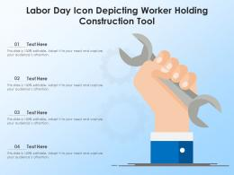 Labor Day Icon Depicting Worker Holding Construction Tool