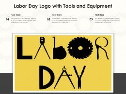 Labor Day Logo With Tools And Equipment