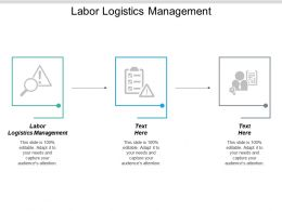 Labor Logistics Management Ppt Powerpoint Presentation Styles Show Cpb
