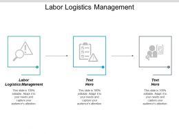 Labor Logistics Management Ppt Powerpoint Presentation Styles Show Cpb